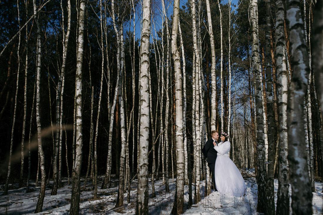 sesje ślubna zimowa